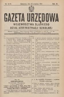 Gazeta Urzędowa Województwa Śląskiego. Dział Administracji Szkolnej. 1934, nr31(9)