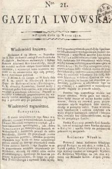 Gazeta Lwowska. 1812, nr21