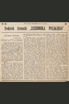 """Dodatek Literacki """"Dziennika Polskiego"""". 1890, nr50"""