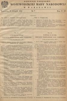 Dziennik Urzędowy Wojewódzkiej Rady Narodowej w Warszawie. 1953, nr7