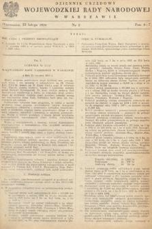 Dziennik Urzędowy Wojewódzkiej Rady Narodowej w Warszawie. 1954, nr2
