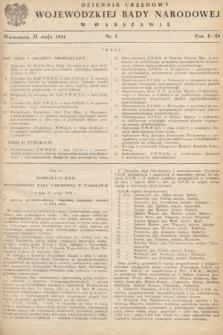 Dziennik Urzędowy Wojewódzkiej Rady Narodowej w Warszawie. 1954, nr3