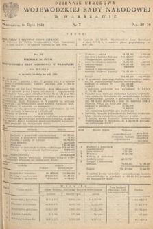 Dziennik Urzędowy Wojewódzkiej Rady Narodowej w Warszawie. 1954, nr5