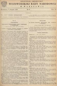 Dziennik Urzędowy Wojewódzkiej Rady Narodowej w Warszawie. 1954, nr6
