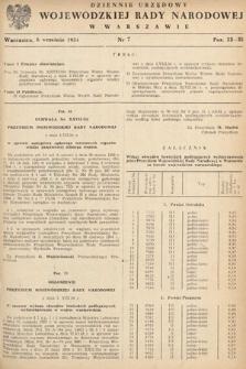 Dziennik Urzędowy Wojewódzkiej Rady Narodowej w Warszawie. 1954, nr7
