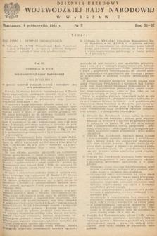 Dziennik Urzędowy Wojewódzkiej Rady Narodowej w Warszawie. 1954, nr8