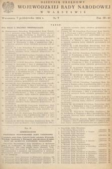 Dziennik Urzędowy Wojewódzkiej Rady Narodowej w Warszawie. 1954, nr9