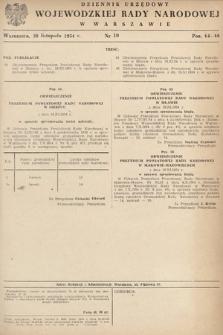 Dziennik Urzędowy Wojewódzkiej Rady Narodowej w Warszawie. 1954, nr10