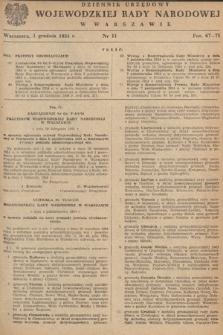Dziennik Urzędowy Wojewódzkiej Rady Narodowej w Warszawie. 1954, nr11