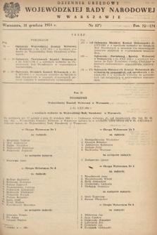 Dziennik Urzędowy Wojewódzkiej Rady Narodowej w Warszawie. 1954, nr12