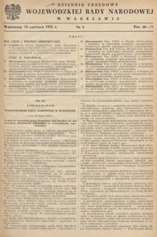 Dziennik Urzędowy Wojewódzkiej Rady Narodowej w Warszawie. 1955, nr4