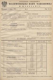 Dziennik Urzędowy Wojewódzkiej Rady Narodowej w Warszawie. 1955, nr5