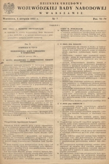 Dziennik Urzędowy Wojewódzkiej Rady Narodowej w Warszawie. 1955, nr7