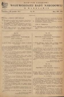 Dziennik Urzędowy Wojewódzkiej Rady Narodowej w Warszawie. 1951, nr16