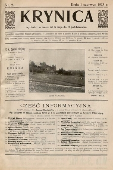 Krynica. 1913, nr2