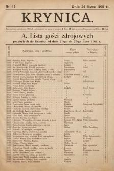 Krynica. 1901, nr18