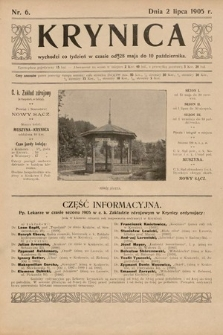 Krynica. 1905, nr6