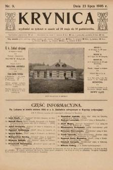 Krynica. 1905, nr9