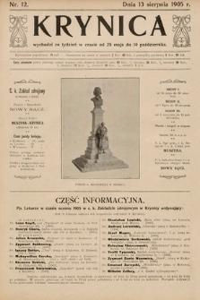 Krynica. 1905, nr12