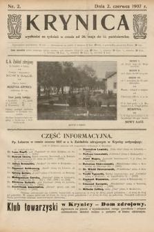 Krynica. 1907, nr2