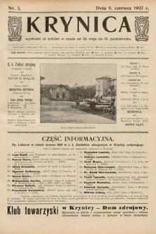 Krynica. 1907, nr3