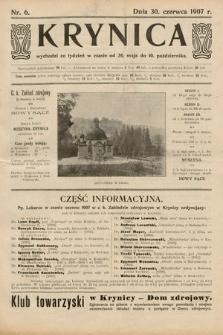 Krynica. 1907, nr6