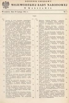 Dziennik Urzędowy Wojewódzkiej Rady Narodowej w Warszawie. 1961, nr3
