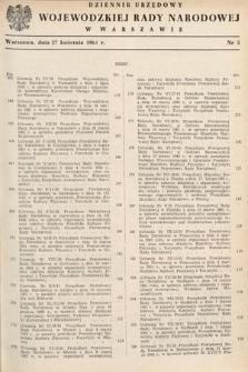 Dziennik Urzędowy Wojewódzkiej Rady Narodowej w Warszawie. 1961, nr5