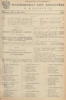 Dziennik Urzędowy Wojewódzkiej Rady Narodowej w Warszawie. 1961, nr6