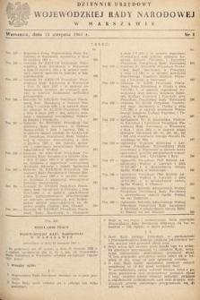 Dziennik Urzędowy Wojewódzkiej Rady Narodowej w Warszawie. 1961, nr8