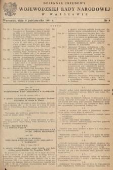 Dziennik Urzędowy Wojewódzkiej Rady Narodowej w Warszawie. 1961, nr9
