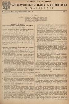 Dziennik Urzędowy Wojewódzkiej Rady Narodowej w Warszawie. 1961, nr11