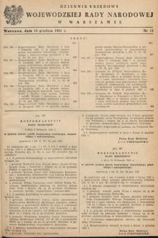 Dziennik Urzędowy Wojewódzkiej Rady Narodowej w Warszawie. 1961, nr13