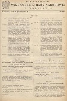 Dziennik Urzędowy Wojewódzkiej Rady Narodowej w Warszawie. 1961, nr14
