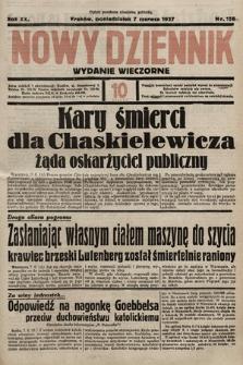 Nowy Dziennik (wydanie wieczorne). 1937, nr156a