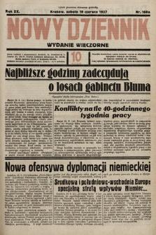 Nowy Dziennik (wydanie wieczorne). 1937, nr168a