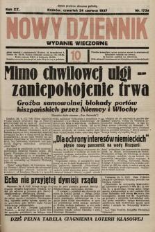 Nowy Dziennik (wydanie wieczorne). 1937, nr173a