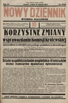Nowy Dziennik (wydanie wieczorne). 1937, nr174ab