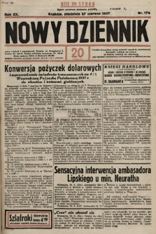 Nowy Dziennik. 1937, nr176