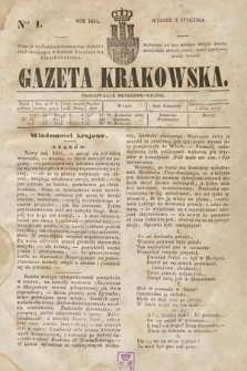 Gazeta Krakowska. 1844, nr1