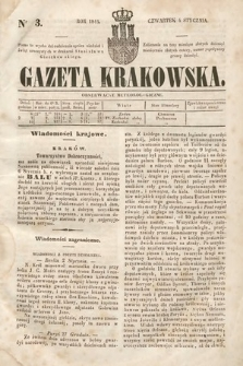 Gazeta Krakowska. 1844, nr3