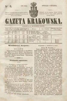 Gazeta Krakowska. 1844, nr6