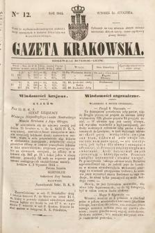 Gazeta Krakowska. 1844, nr12