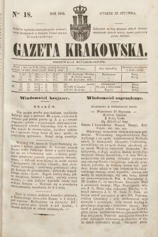 Gazeta Krakowska. 1844, nr18