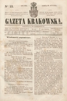 Gazeta Krakowska. 1844, nr22