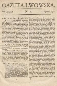 Gazeta Lwowska. 1817, nr2