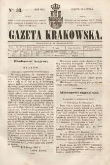 Gazeta Krakowska. 1844, nr33