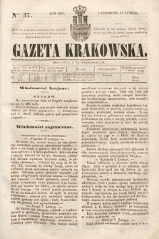 Gazeta Krakowska. 1844, nr37
