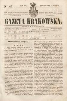 Gazeta Krakowska. 1844, nr40