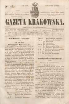 Gazeta Krakowska. 1844, nr45